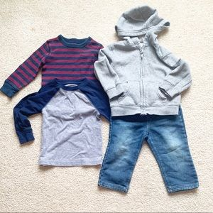 Boys Toddler Casual Jean Hoodie Outfit Bundle